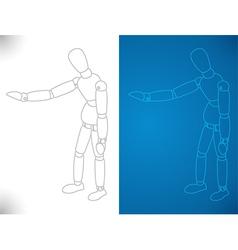 Artists Model Presenting vector image