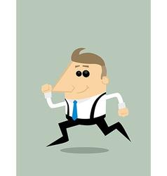 Cartoon businessman running vector