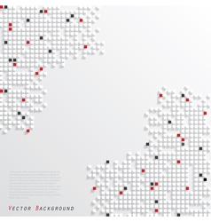 Geometric background with white red and black cube vector image vector image
