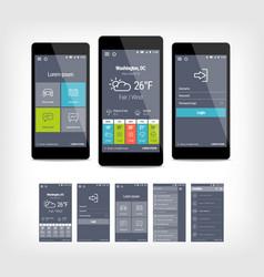 mobile app ui set of modern design vector image vector image