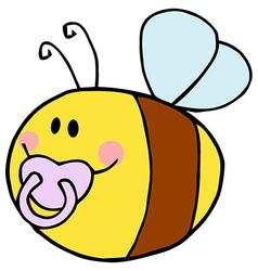 Baby Bee Cartoon Character vector image vector image