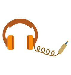 headphones isolated vector image