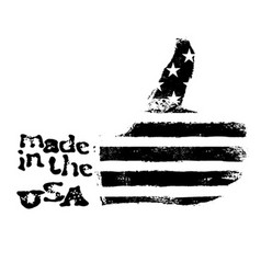 Made in the USA Thumb up gesture symbol American vector image