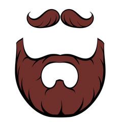 mustache and beard icon cartoon vector image