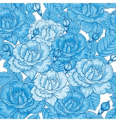seamless floral pattern with roses vector image