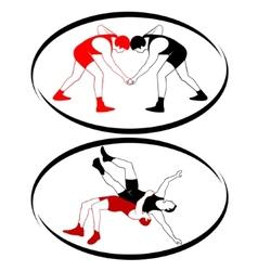 Wrestling vector image vector image