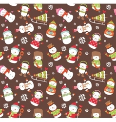 Holiday seamless background vector image