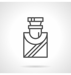 Mens perfumes simple line icon vector image