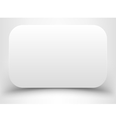 Blank white rectangle with rounded corners vector
