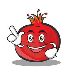 have an idea pomegranate cartoon character style vector image vector image