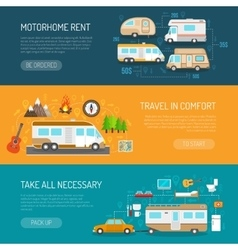 Recreational Vehicle Banners Set vector image vector image