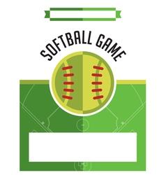 Softball Game Flyer vector image vector image