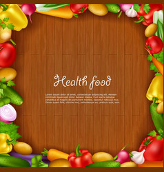 Vegetable Health Food Background vector image vector image
