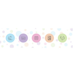 5 traditional icons vector