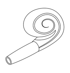 a festive whistle with a ribbonparty and parties vector image