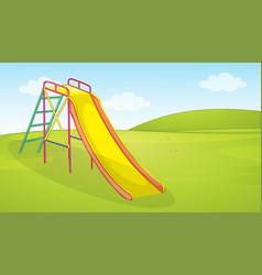 A playground slide background vector