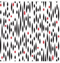Abstract spot seamless pattern black and red blot vector