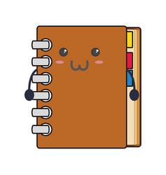 Adress book kawaii vector