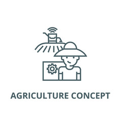 agriculture concept line icon agriculture vector image