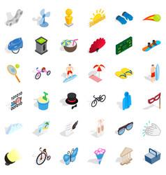 Amusement icons set isometric style vector