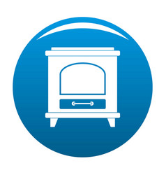 Ancient oven icon blue vector
