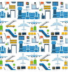 aviation seamless pattern background vector image