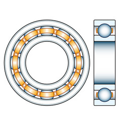 ball bearing design vector image