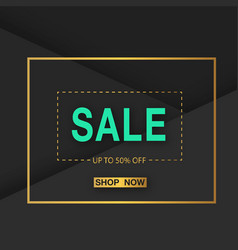 Banner sale up to 50 off shop now square i vector