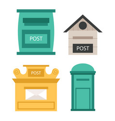 Beautiful rural curbside open and closed postal vector
