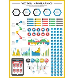 big pack data visualization infographics and vector image