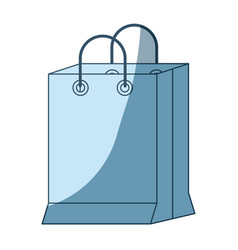 blue shading silhouette of shopping bag vector image