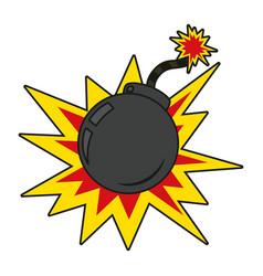 Bomb explosive cartoon vector