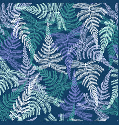 Botanical abstract seamless fabric pattern with vector