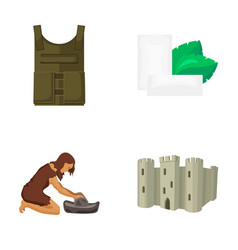 Bulletproof vest chewing gum and other web icon vector