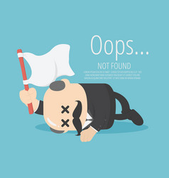businessman boss sleep with fatigue raise the vector image
