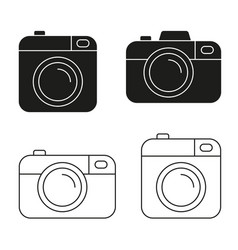 Camera icon minimalistic flat design vector