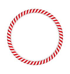 Candy Cane Circle vector