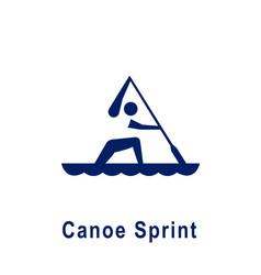 Canoe sprint pictogram new sport icon vector