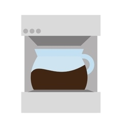 Coffee maker hot drink machine vector image
