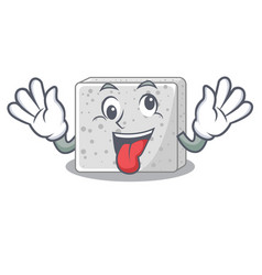 crazy fresh feta cheese isolated on maskot vector image