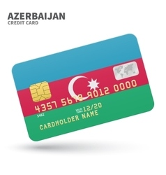 Credit card with azerbaijan background vector