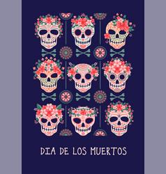 day dead or dia de los muertos vector image
