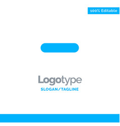 Delete less minus remove blue solid logo template vector