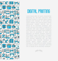 Digital printing concept in circle vector