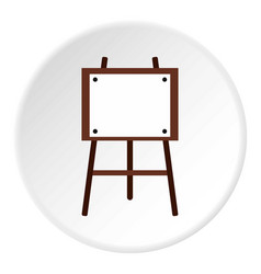 Easel for painter icon flat style vector