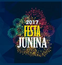 festa junina background with fireworks vector image
