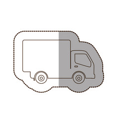 figure delivery car icon vector image