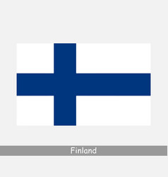 finland finnish national country flag banner icon vector image