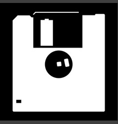 floppy disk the white color icon vector image