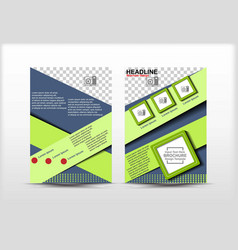 Flyer design simple theme green color vector